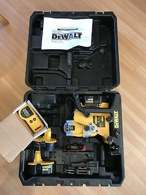 dewalt dw073 rotary laser level. With case, Detector, 3 Batteries & Charger.