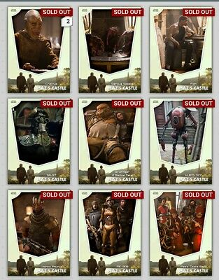 Topps Star Wars Card Trader Maz's Castle Location Gray Full Set + Awards Inc