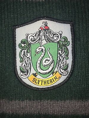 Harry Potter SLYTHERIN Green/Gray Stripped Scarf