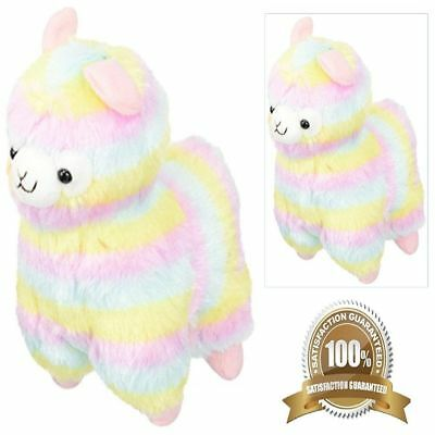Best Birthday Gift for Girl Kids Stuff Plush Doll Toys Adorable Alpaca Colorful