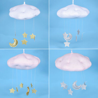 Wall Hanging Decor Lovely Cotton Cloud Star Moon Plush Toys Kids Room Decoration