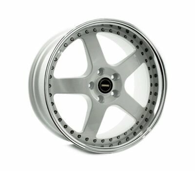 MERCEDES BENZ E CLASS W210 WHEELS PACKAGE: 19x8.5 19x9.5 Simmons FR-1 White and