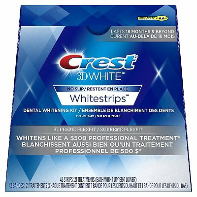 Crest3D Whitening Strips SUPREME Flexfit - 7, 14, 21 days Whitening KIT