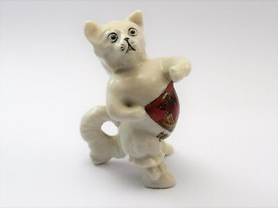 Antique Uncommon Cat Puss In Boots Crested China Procelain By Gemma Gc