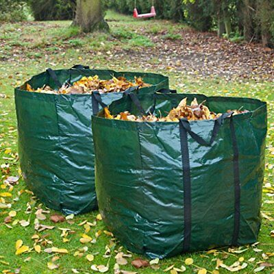 2 x Strong 98 Litre Garden Bag Waste Refuse Rubbish Grass Sack Waterproof Reusab