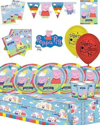 Peppa Pig Party Decorations Supplies Kit - Decorations Packs for 8, 16, 24 or 32