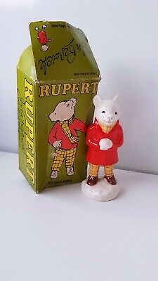 Beswick Rupert Bear and His Friends Snowballing Porcelain China Figure Model