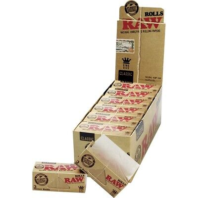 Raw Authentic Classic King size Unrefined Rolling Papers 3 Meter Rolls UK