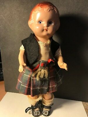 All Original Antique Vintage Composition Effanbee Doll 9""