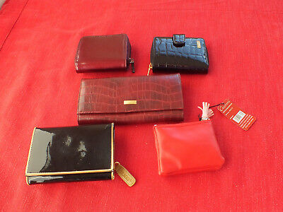 Job Lot of 5 Purses -All Brand New some with Tags- Various Sizes