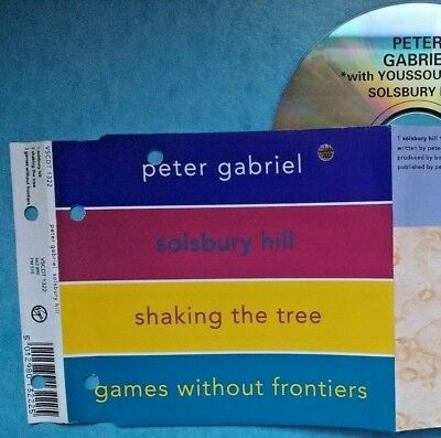 Peter Gabriel -‎Solsbury Hill +shaking the tree wYOUSSOU N'DOUR-3SONG UK CD-1999