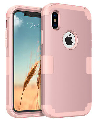 For iPhoneX Anti-Scratc 3 in 1 Hybrid Hard PC Soft Silicone Combo Cover Case