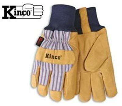 Kinco 1927KW Insulated Leather Winter Work Glove With Knit Wrist - Large