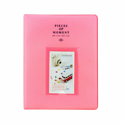 Photo Album For Fuji Instax Mini Prints Holds 128 Photos Flamingo Pink New!