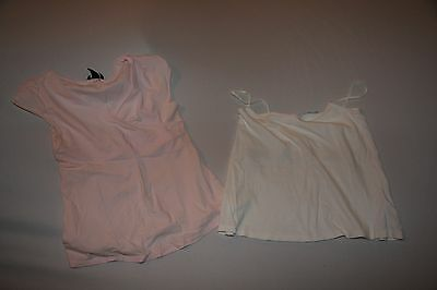 H&M Mana and Blooming marvellous bundle maternity tops - White and pink top