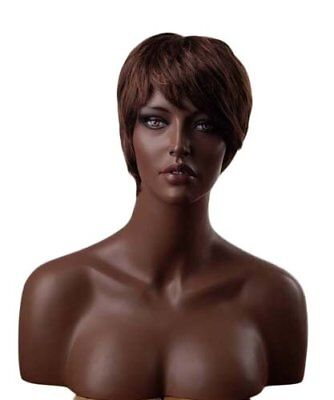 Ethnic Female Realistic Mannequin Head + Bust For Wig Hat Jewlery Display H3