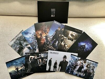 Sqaure Enix Cafe Exclusive Final Fantasy XV Postcard Set Noctis Nyx Luna