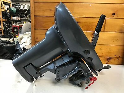 """02 Yamaha 9.9 15 HP 2 Stroke Outboard Motor 15 """" Shaft Mid Section Freshwater MN"""