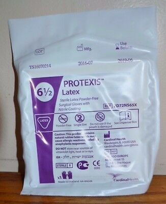 Protexis Sterile Latex Powder-Free Surgical Gloves Size 6 1/2 ,Lot of 10 Pair