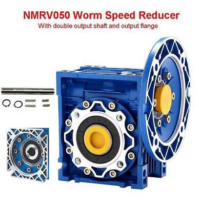 Worm Gear 100:1 56C flange and double output shaft Speed Reducer NMRV050