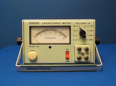 Boonton 72B Analog Capacitance Meter,1 MHz, 1-3000 pF Full Scale,15mV, TESTED