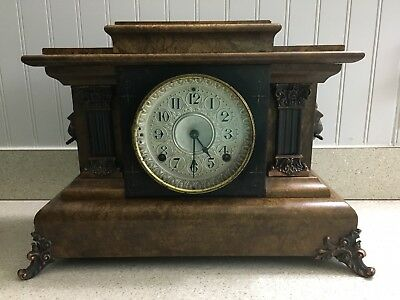 Antique Seth Thomas Adamantine Mantle Clock – c. 1880's – 8 Day Time & Strike