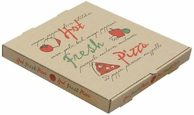 "Pizza Boxes Kraft 10"" Square Set of 6 Great for Christmas Money Gift Giving"