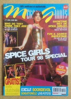 "SPICE GIRLS Original Vintage ""Tour 98 Special"" Poster Magazine Belgian Edition"