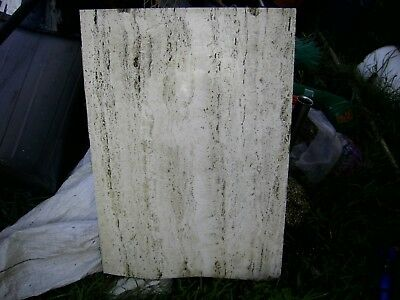 Salvaged White Travertine marble slabs