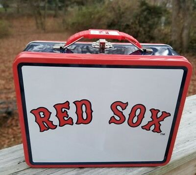 MLB Boston Red Sox Metal Tin Lunch Box Toys Baseball Carrier Tote