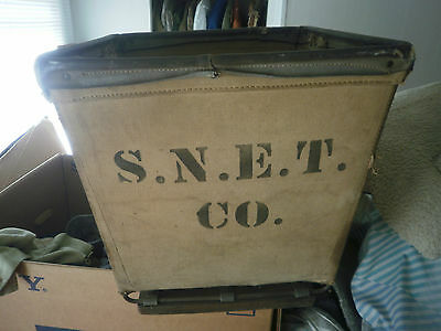 southern new england tel co duck canvas basket