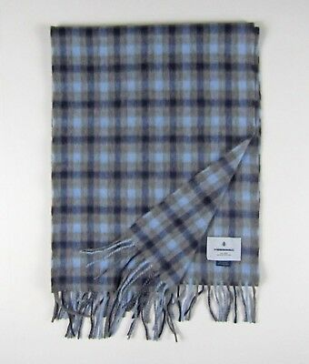 Reeve Red w//tax Begg /& Co Langley Plaid Lambswool-Angora Scarf $110