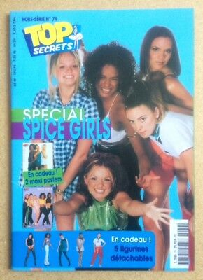 "SPICE GIRLS Original Vintage ""Top Secrets"" French Poster Magazine Special No 79"