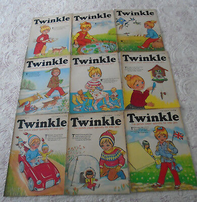 9 Twinkle Comics 1972, Vgc, Bargain!!  Numbers On The Listing