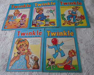 5 Twinkle Comics 1974, Vgc, Bargain!!  Numbers On The Listing