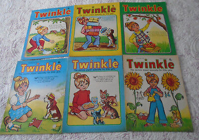 6 Twinkle Comics 1974, Vgc, Bargain!!  Numbers On The Listing
