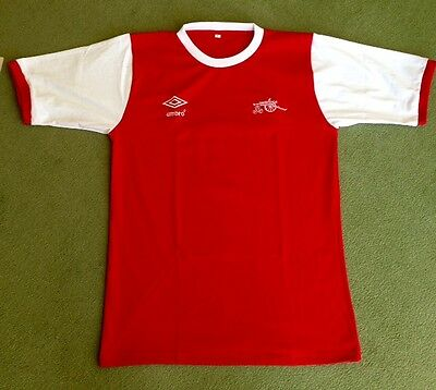 Arsenal Retro 70s Home Shirt Red New ALL SIZES/SLEEVES *REDUCED SPECIAL OFFER*