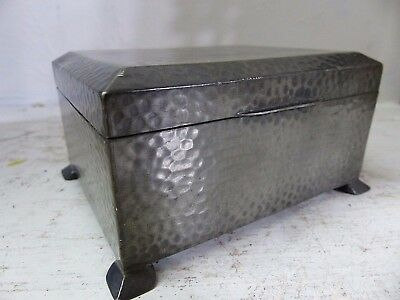 Genuine Old Tudric Liberty & Co Of London Hand Beaten Arts & Crafts Pewter Box