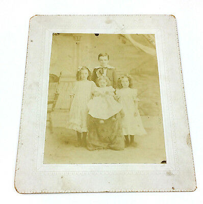 Vintage Antique Photo Cabinet Card Children Family Boys Girls & Baby Portrait