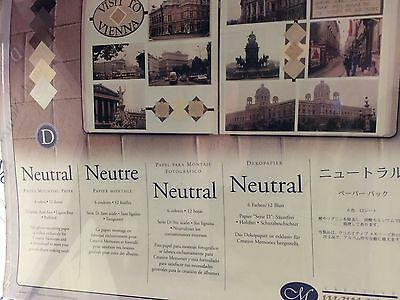 New Sealed Pack Creative Memories Neutral Photo Mounting Paper 6 colors/12 sheet