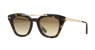 a1938d8f41758 AUTHENTIC TOM FORD FT0575 Anna 02 01B Shiny Black Gradient Smoke ...