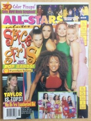 "SPICE GIRLS Original Vintage ""Teen Beat All-Stars"" US Poster Magazine May 1998"