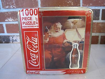 1000 Piece Puzzle In Tin 1998 Coca-Cola Santa