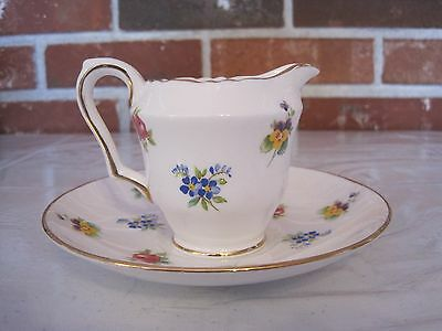 Vintage Crown Fine Bone China Saucer And Creamer--Staffordshire, England
