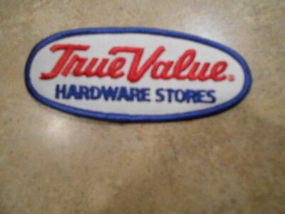 Vintage NOS TRUE VALUE HARDWARE STORES Patch Collectible Oval never been sewn on