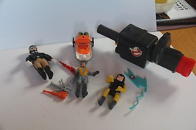 Ghostbusters Toy Vintage 1984 Set/lot/9 Police Ghost Figure Columbia Guns Kenner