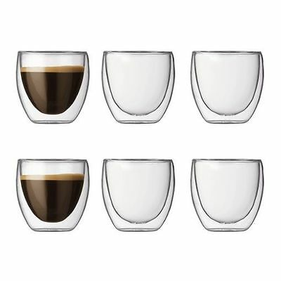 Bodum Pavina 6Pc Double Wall Thermo Glasses Extra Small 80Ml Rrp$57
