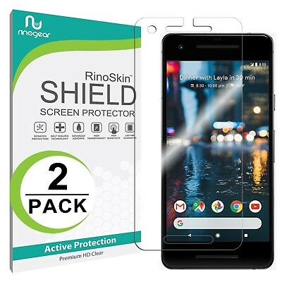 [2-PACK] RinoGear Screen Protector for Google Pixel 2 (Active Clear Shield)