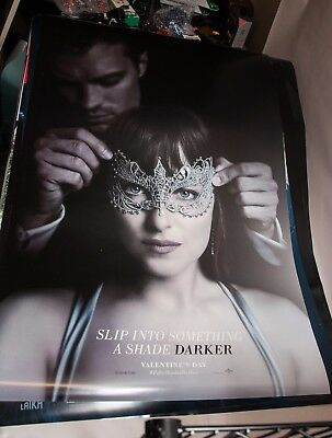 "2017 Fifty Shades of Grey / Darker - DS Movie Poster 27x40"" Theatre Edition"