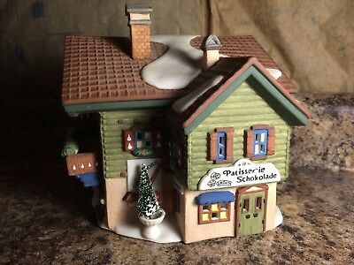 Retired 1993 Dept 56 Christmas Alpine Village ~ Sport Laden ~ Building